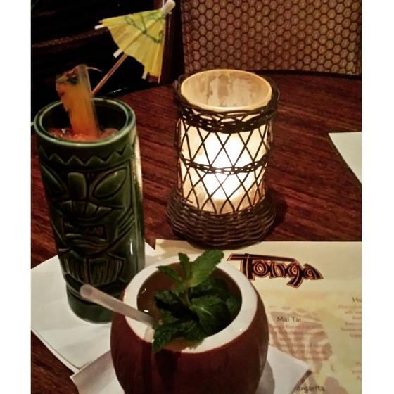Rum Drinks in the Tonga Room, San Francisco www.sweetteasweetie.com