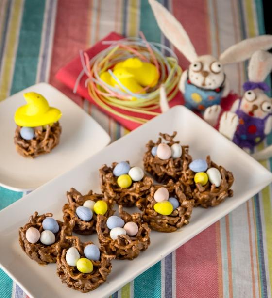 Easter Birds Nest cookies   www.sweetteasweetie.com