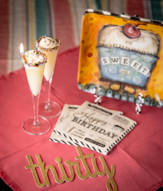 30th Birthday Cake Shots | www.sweetteasweetie.com