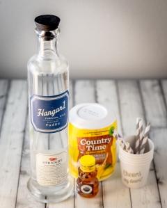 Honey Lemonade Popsicles with Vodka